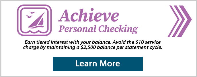 Achieve personal checking