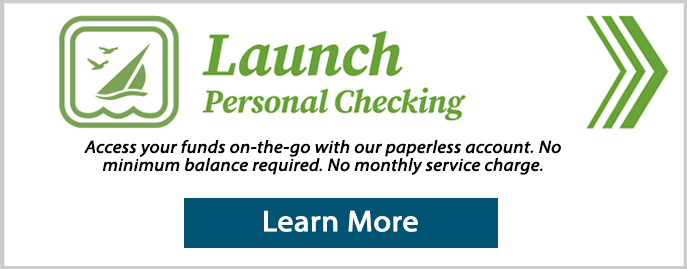 Launch personal checking