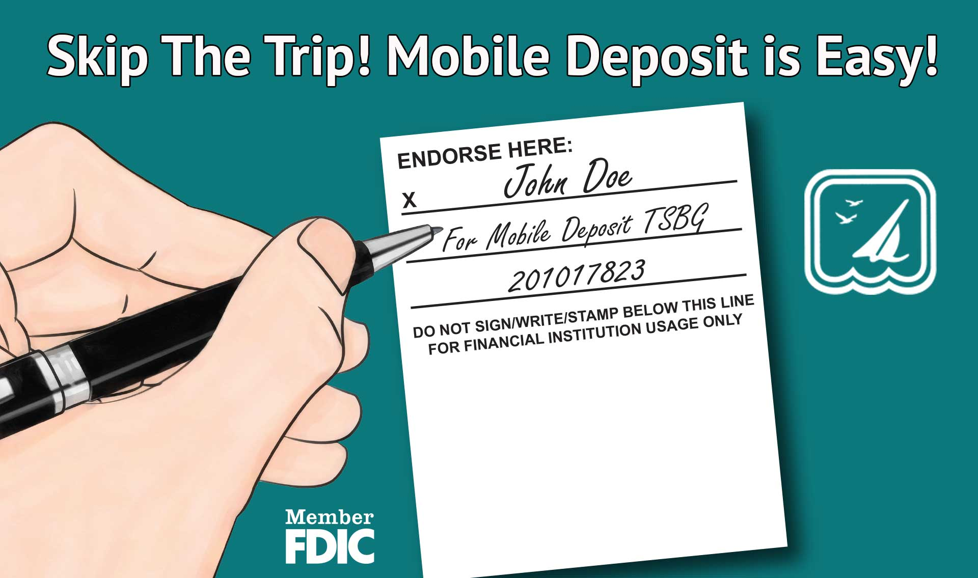 Get Mobible Deposit with our Banking App
