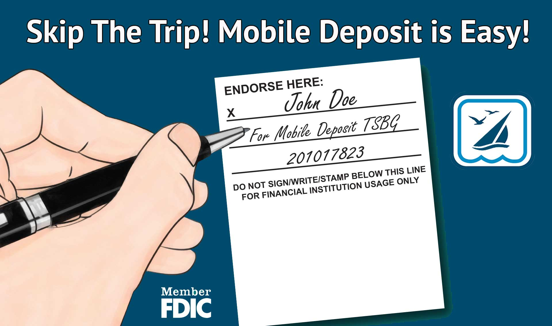 Use Mobile Deposit- fast and easy