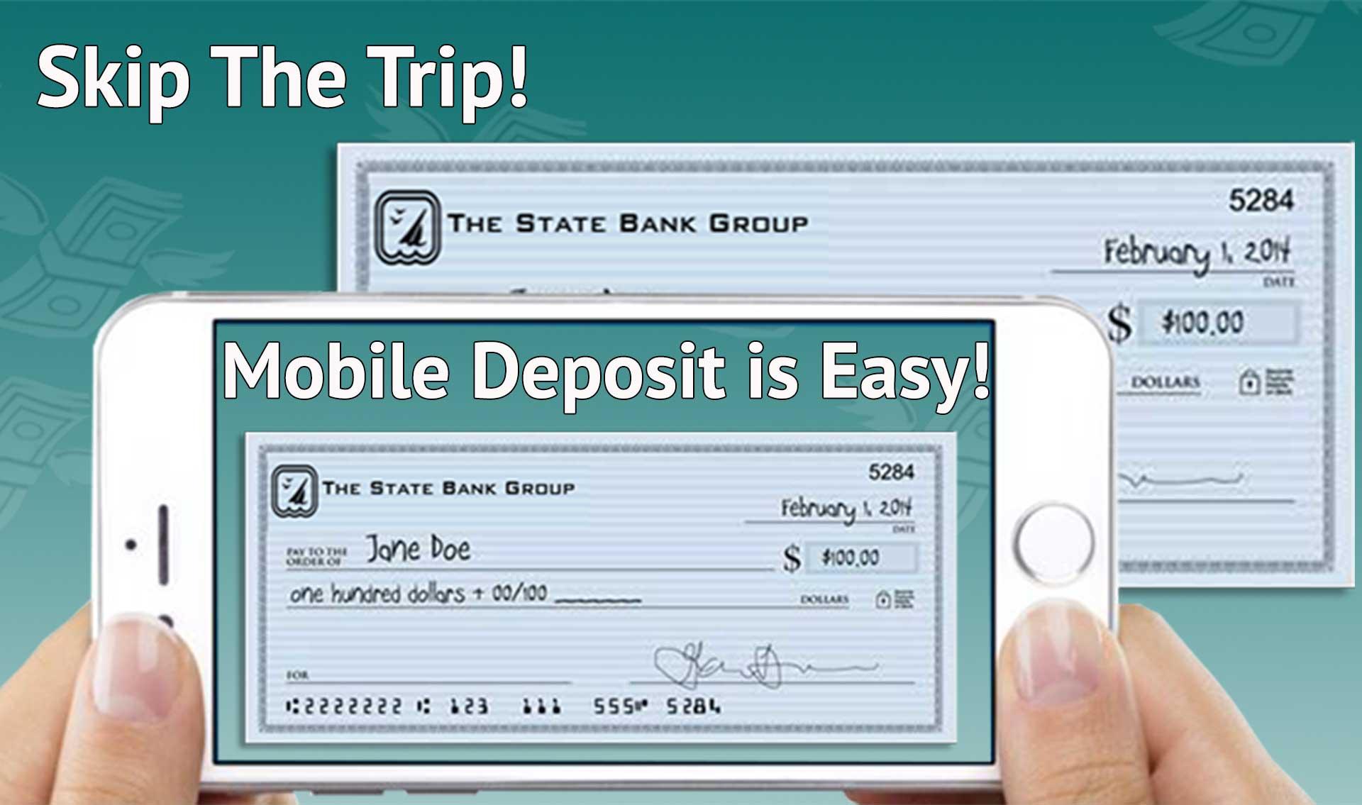 Get mobile deposit