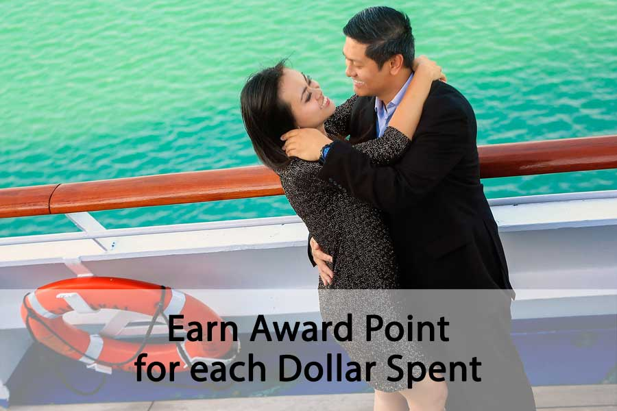 Earn Award Point for each dollar spent