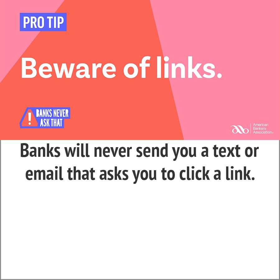 beware of links- pro tip