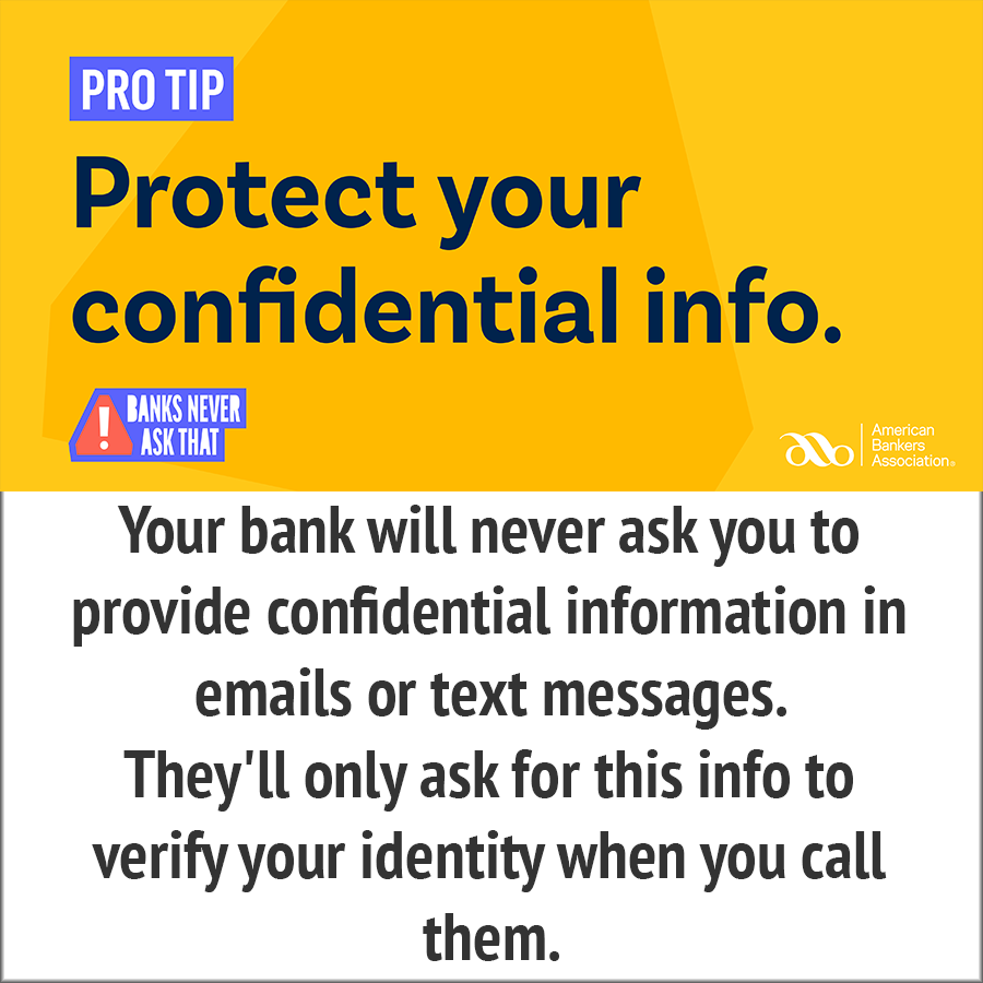 Protect your confidential info - pro tip