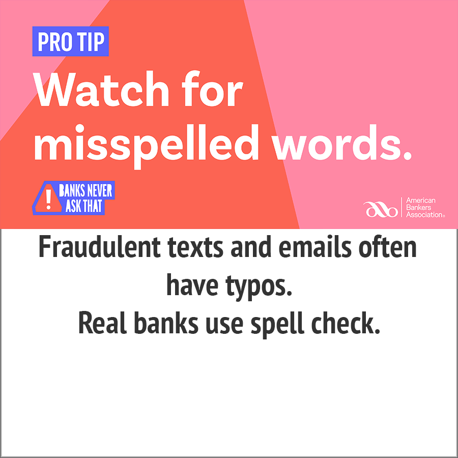 watch for mispelled words pro-tips