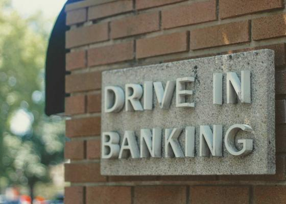 Drive up or Walk up banking