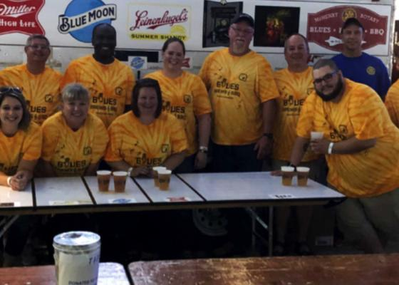 Volunteers at BBQ fest