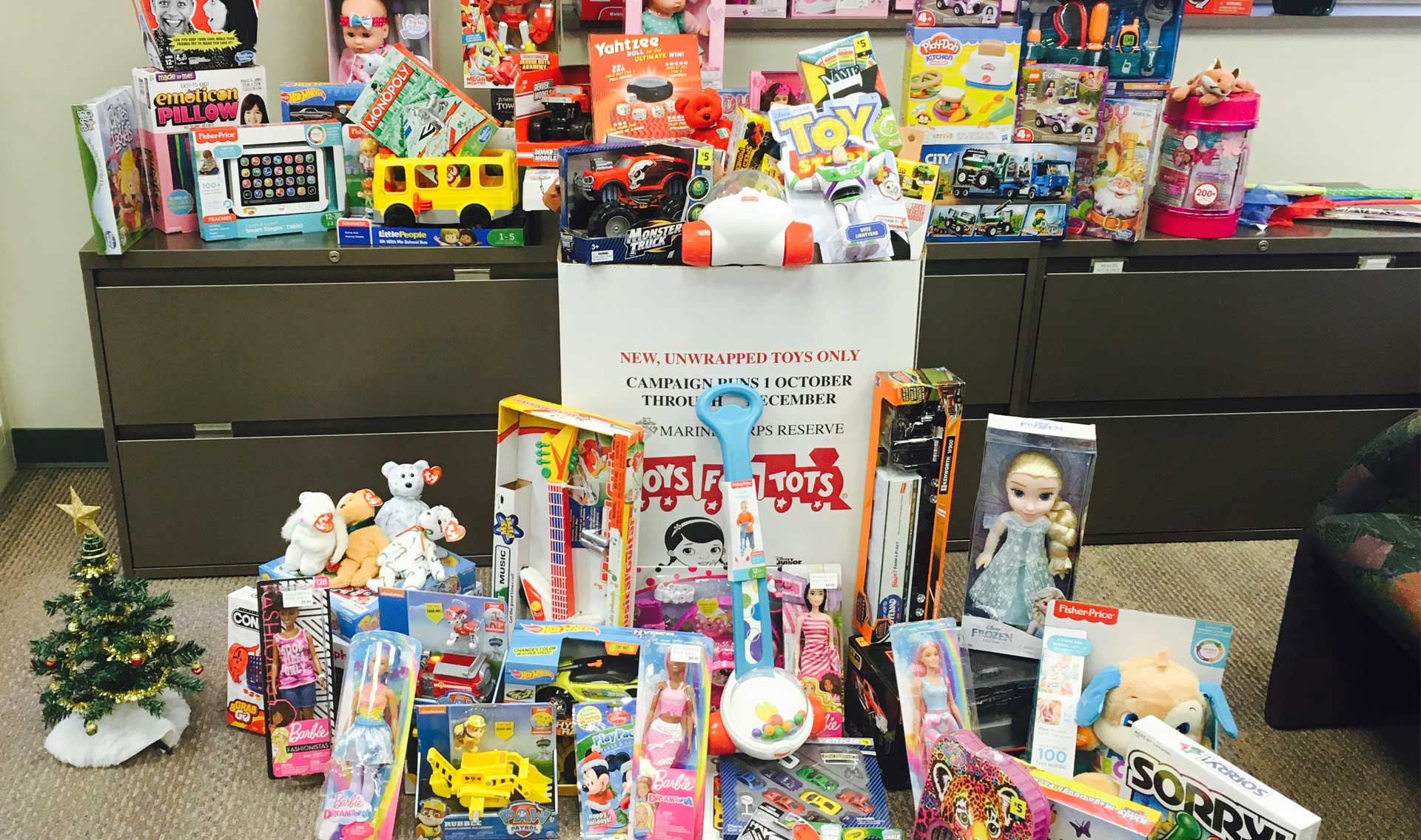 Toys collected for area Children