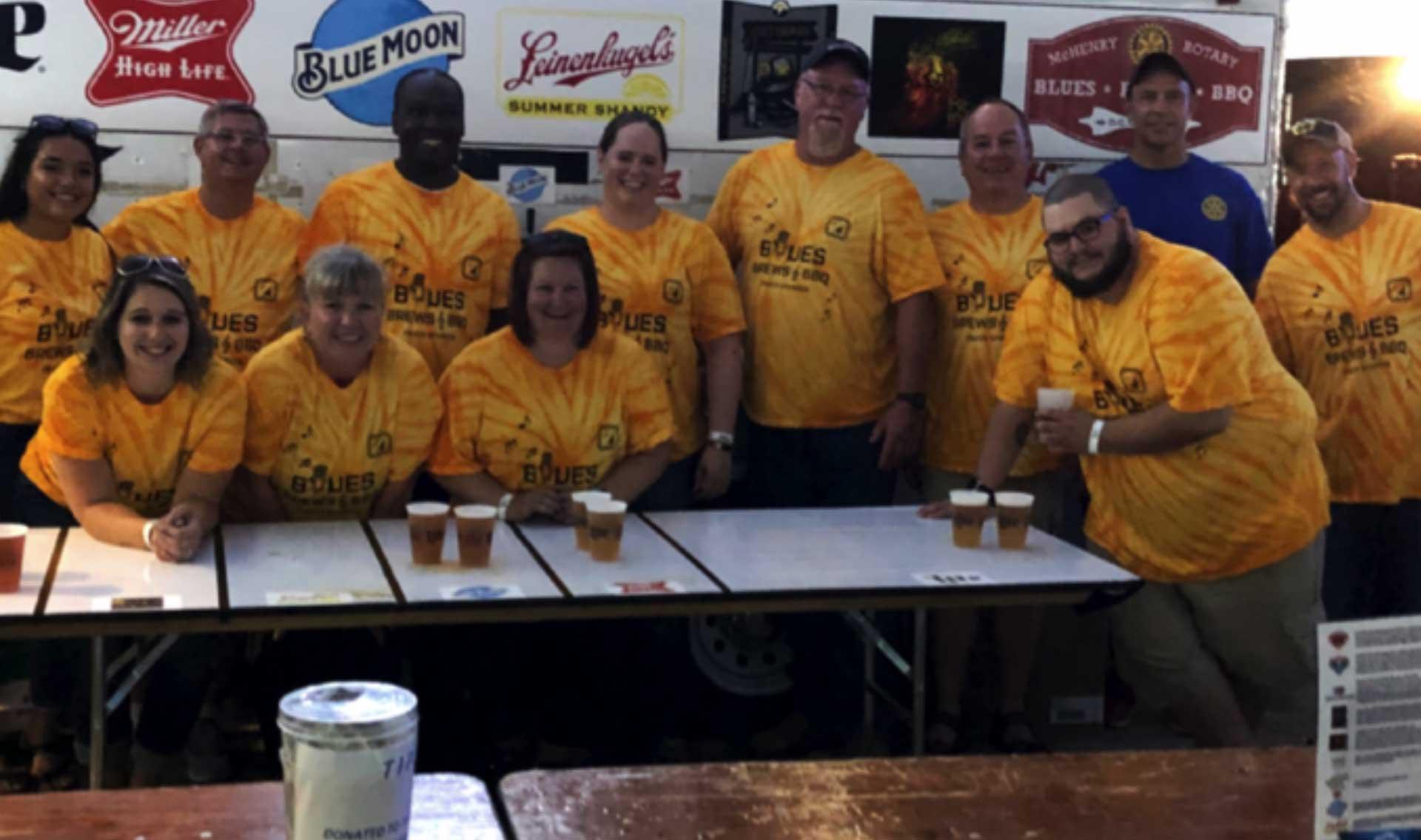Volunteers at BBQ fest